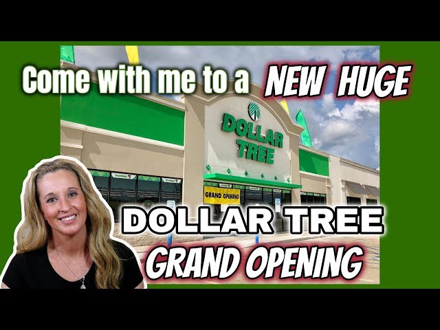 NEW HUGE DOLLAR TREE GRAND OPENING | Come with me | AMAZING FINDS