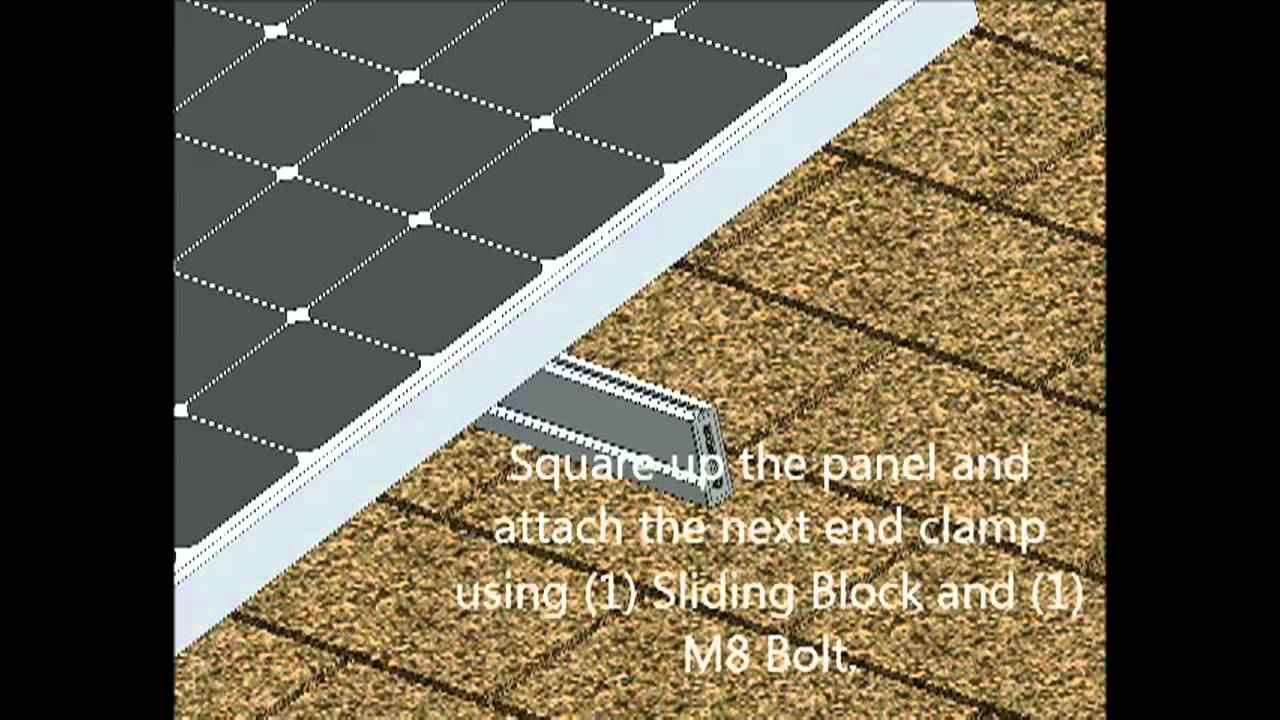 How to install a solar system on my roof - How To Install Solar Flush Mount System On Asphalt Shingle Roof