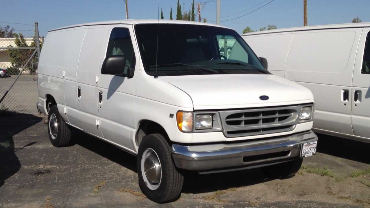 stock 904 2001 ford e250 cargo van truck 126k miles for sale youtube. Black Bedroom Furniture Sets. Home Design Ideas