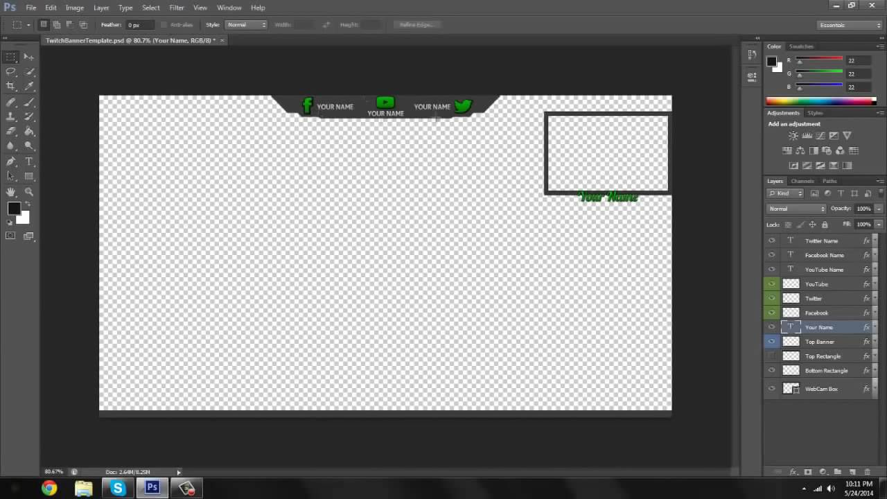 Tutorial Csgo Twitch Tv Stream Overlay Customizable Template Youtube