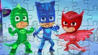 Герои в масках - Кэтбой, Алетт и Гекко друзья - Собираем пазл для детей PJ Masks Jigsaw Puzzle