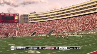 NCAA FOOTBALL 13 FULL GAME PLAY ONLINE MICHIGAN VS WISCONSIN