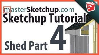 Sketchup Tutorial - Model A Shed (part 4) - Soffit & Gable Walls