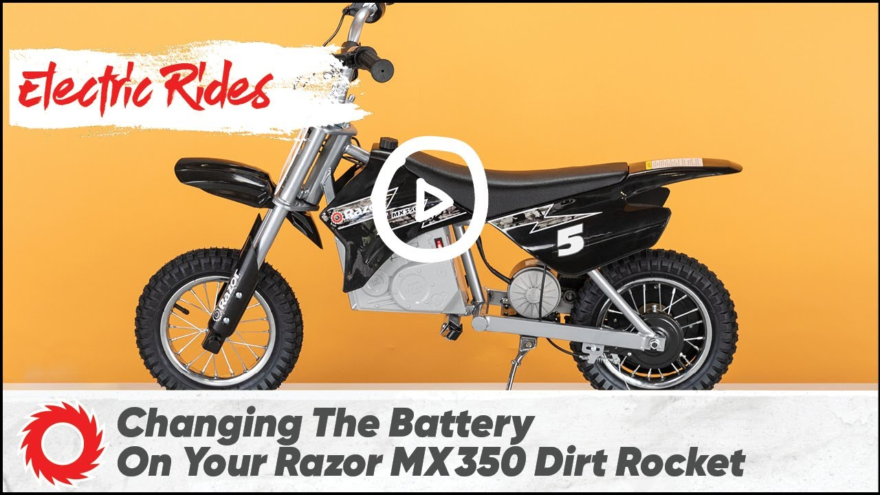 hight resolution of how to replace the battery on the razor mx350 dirt rocket
