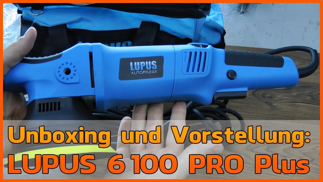 unboxing lupus 6100 pro plus 8mm cps exzenter poliermaschine youtube