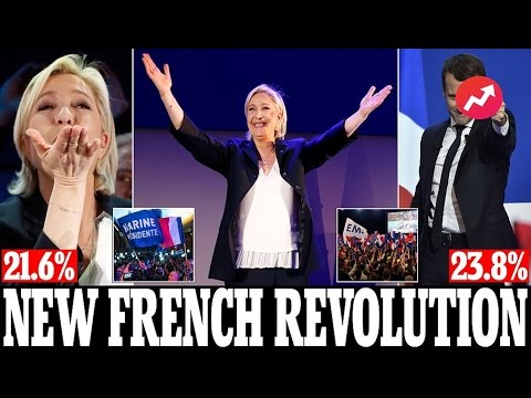 French Presidential Election -  Emmanuel Macron and Marine Le Pen wins first round