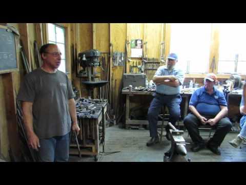 Peter Ross blacksmithing demonstration