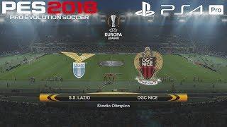 PES 2018 (PS4 Pro) Lazio v OGC Nice UEFA EUROPA LEAGUE PREDICTION 2/11/2017 1080P 60FPS