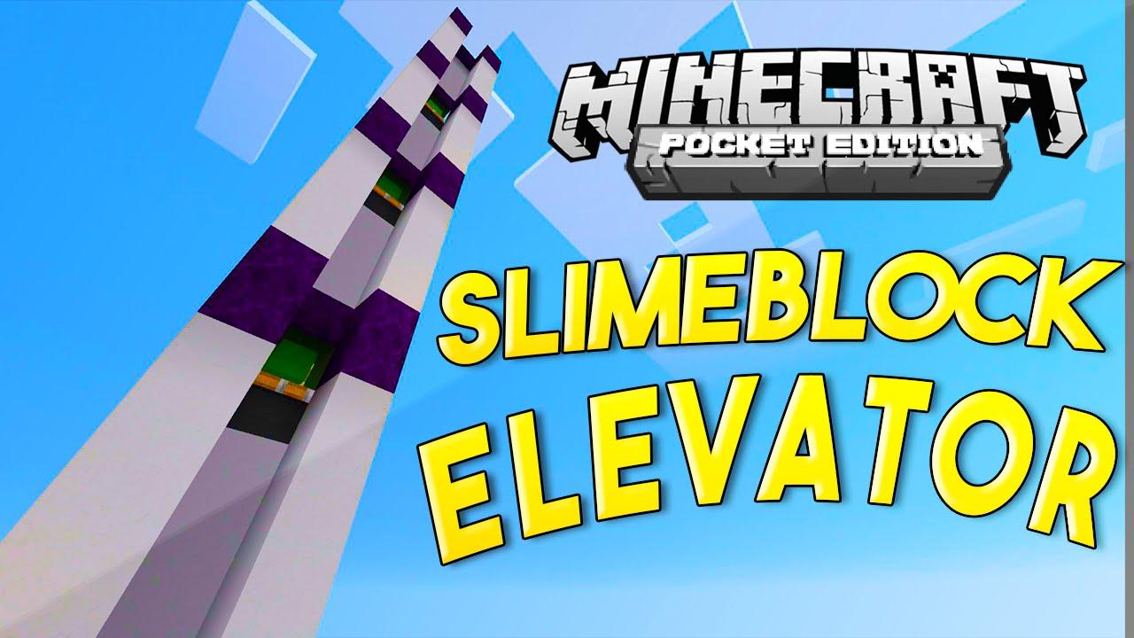 Mcpe Redstone Tutorial Epic Slimeblock Elevator Youtube