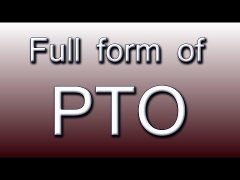 Full form of PTO