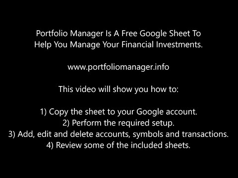 Free Google Spreadsheet To Manage Your Investments