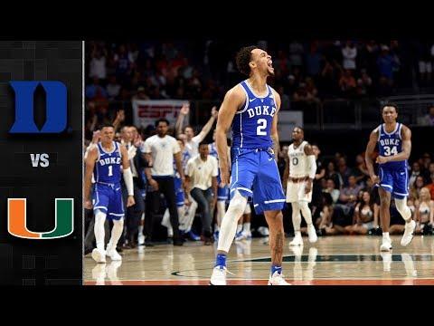 Duke vs Miami College Basketball Condensed Game 2018