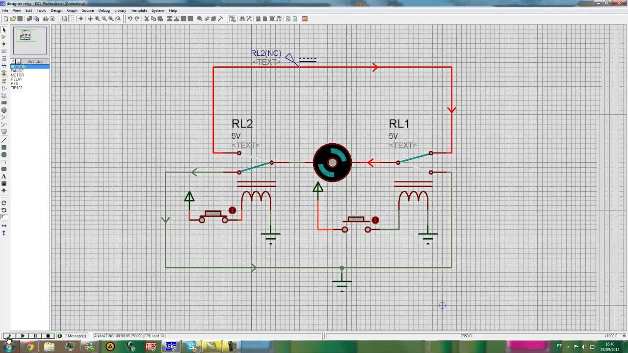 maxresdefault reversing the dc motor with relay youtube reversing relay diagram at panicattacktreatment.co