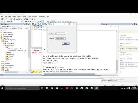 SQL injection using C# on Sql Server