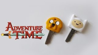 ★ DIY: Chaves do HORA DE AVENTURA ★ (Adventure Time Key Caps) #diydesenhos