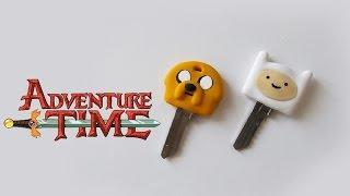 ★ DIY: Chaves do HORA DE AVENTURA ★ (Adventure Time Key Caps) #diydesenhos