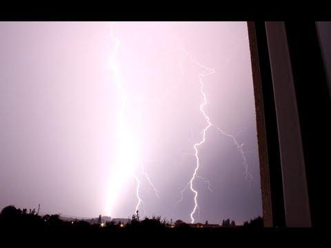 3-facher Blitzeinschlag ! plus Naheinschlag & heftiger Donner ! 2013