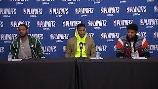 Carmelo, Westbrook & PG Postgame Interview | Thunder vs Jazz - Game 3 | 2018 NBA Playoffs