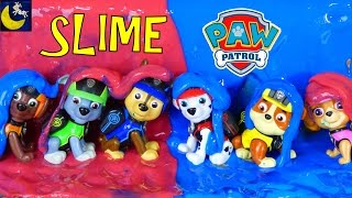 Funny Paw Patrol Toy Stories for Kids Mission Paw Pups Make SLIME putty suprise Chase Marshall Toys!