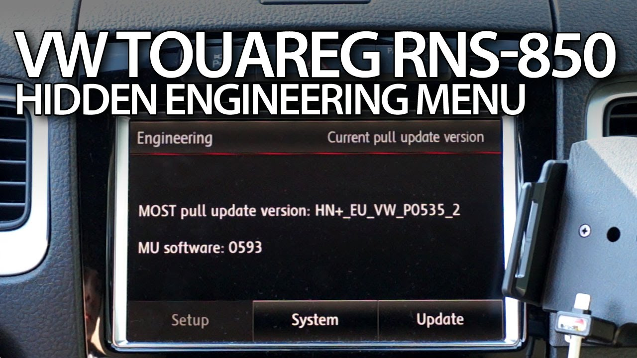 VW Touareg RNS-850 hidden engineering menu (firmware update)