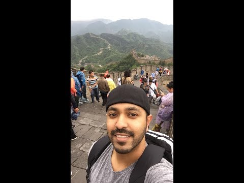 Zeeshan and Aroob in Beijing! Great Wall and Ming tombs!