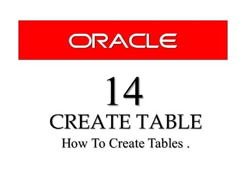 Oracle database tutorials 1 how to install oracle data - Create table in oracle sql developer ...
