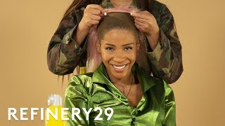 I Got A Light Pink Wig From A Celebrity Stylist | Hair Me Out | Refinery29