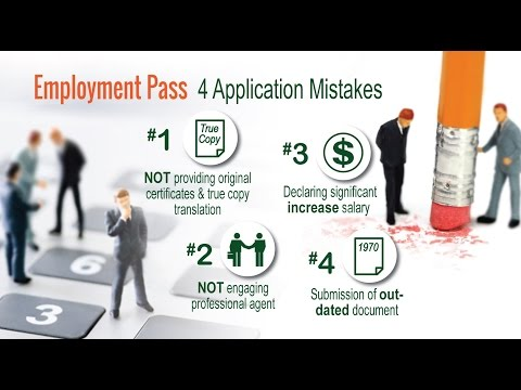 Common Mistakes to avoid when applying Employment Pass (EP)