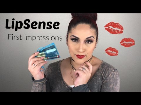 LipSense First Impressions Review & Try On | Blue Red Lip ...