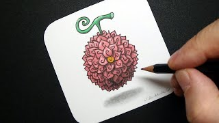 Magical Flower from One Piece - How to Draw Flower-Flower Fruit - #StayHome and Draw #WithMe