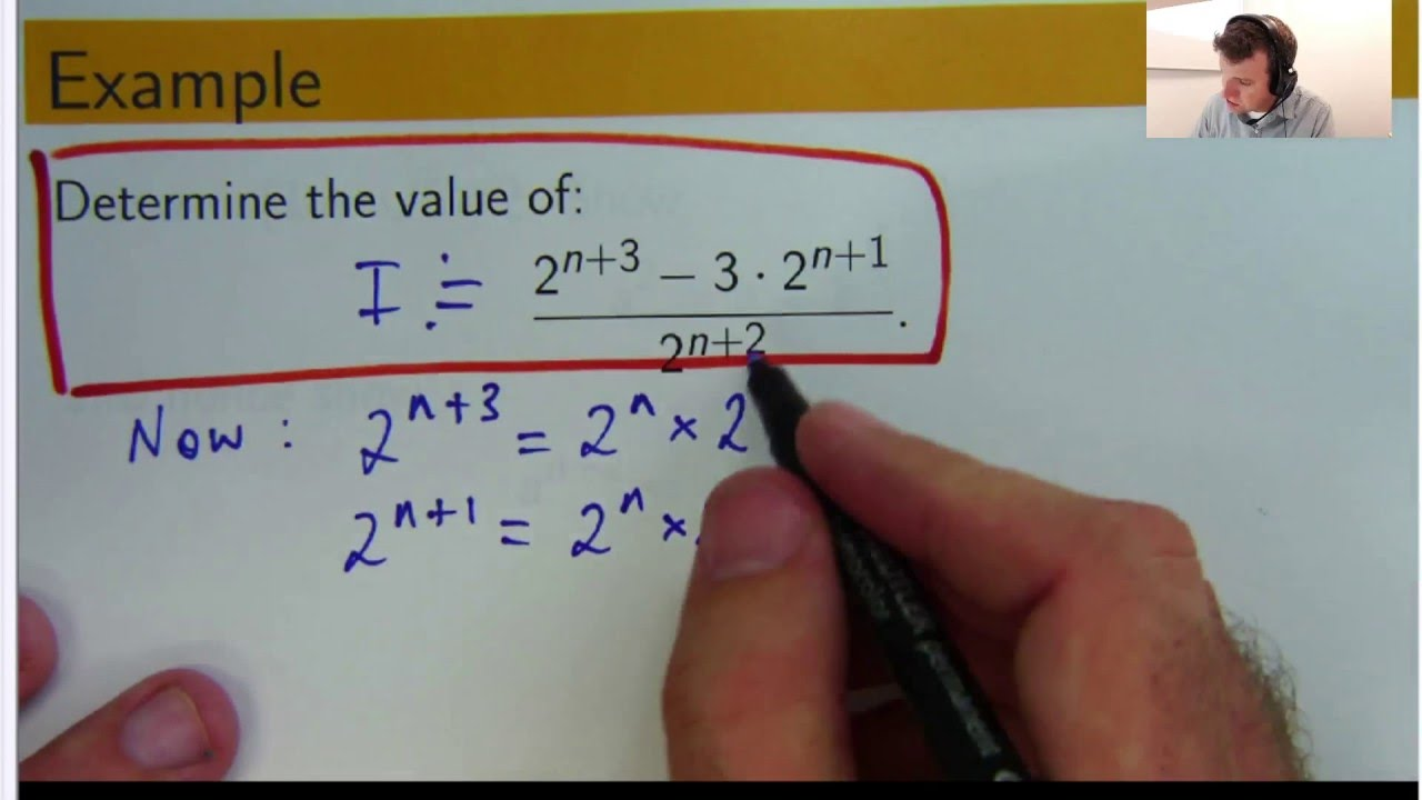 How to use index laws to simplify math: Dr Chris Tisdell Live Stream ...