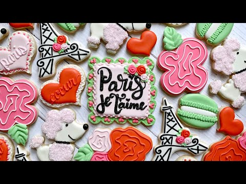 Satisfying Cookie Decorating | PARIS JE T'AIME | The Graceful Baker