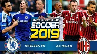 Chelsea FC Vs AC Milan Elite Division | Dream League Soccer 2019 | Android Gameplay#1