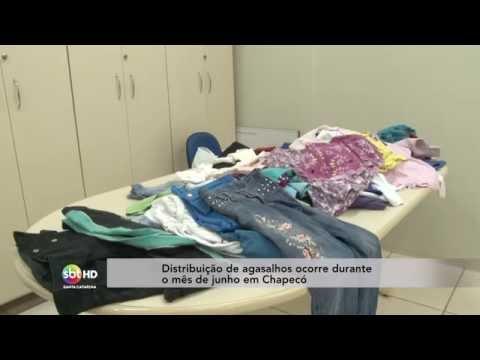 Distribuição de agasalhos ocorre durante o mês de junho em Chapecó