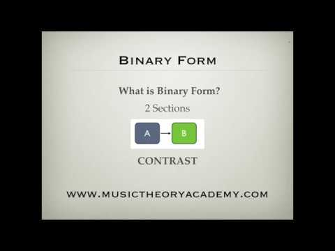 Music Theory Lesson - Binary Form