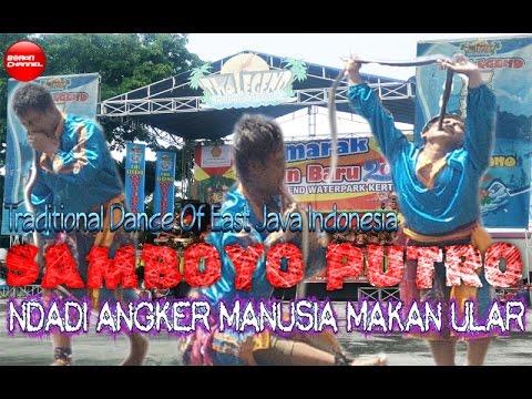 Samboyo Putro Makan Ular Ndadi Angker Live Waterpark || Traditional Dance Of East Java Indonesia