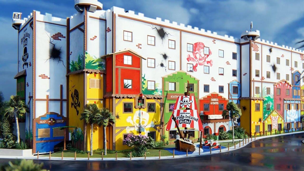 Pirate Island Hotel Fly-Through Virtual Tour, LEGOLAND ...
