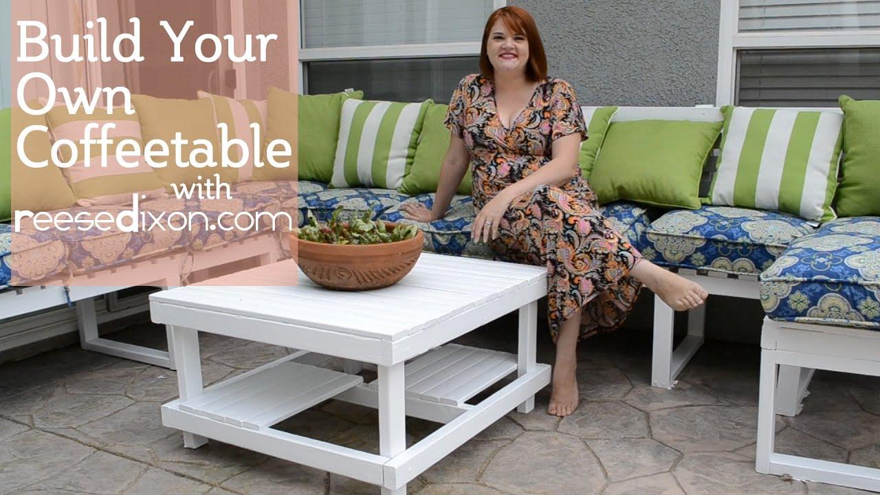 Build a DIY Outdoor Coffeetable - YouTube