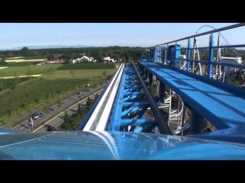 Blue Fire Roller Coaster On Ride POV - Europa Park, Germany HD