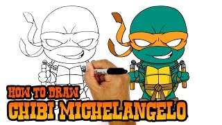 How to Draw Michelangelo | Teenage Mutant Ninja Turtles