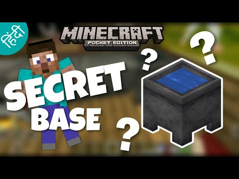 How To Make Secret Base In Minecraft Pocket Edition In Hindi