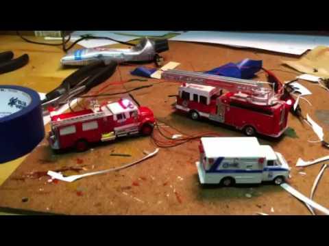 Firetrucks and ambulance