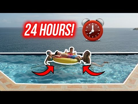 24 HOUR OVERNIGHT CHALLENGE IN A POOL!