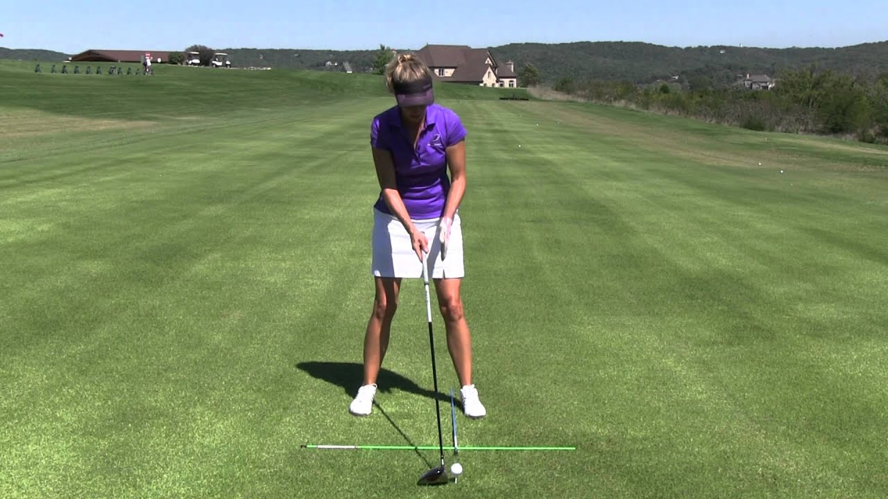 Ideal Ball Position And Set Up For Hitting A Driver Youtube