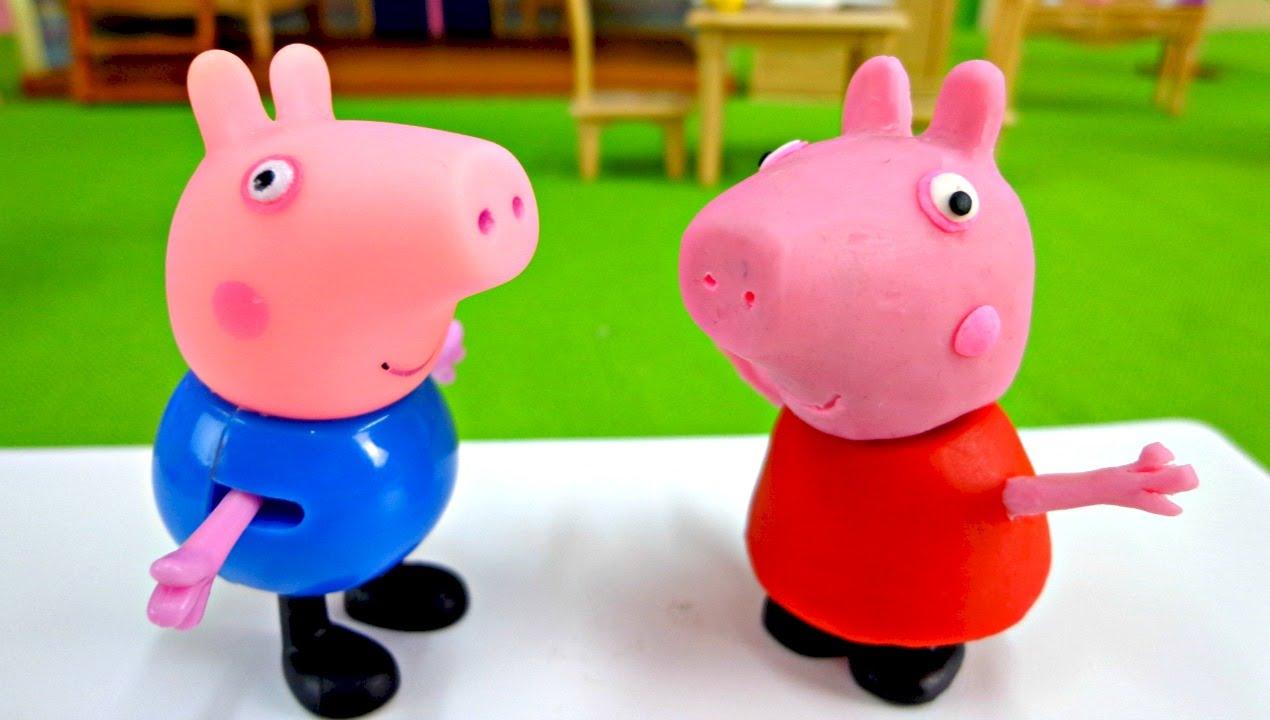 Как сделать из пластилина свинку