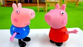 Лепим из пластилина. Видео игры со Свинкой Пеппой.
