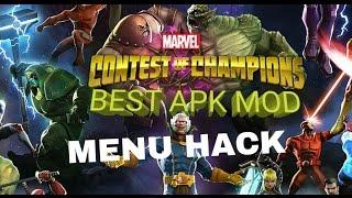 APK MOD MARVEL CONTEST OF CHAMPIONS MENU HACK