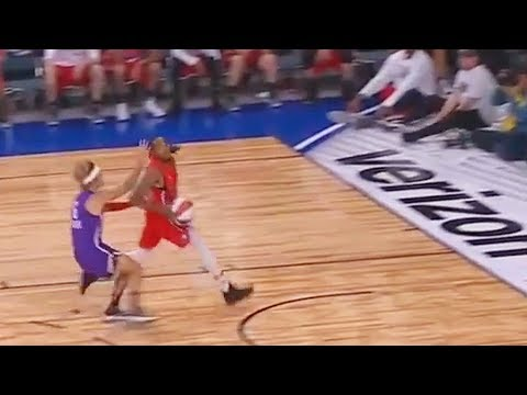 Justin Bieber Tries to Block Quavo and Fails! NBA All-Star Celebrity Game 2018