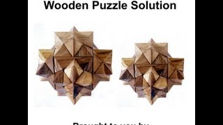 Six Star Wooden Brain Teaser Puzzle Animation Solution