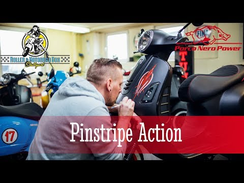 Pinstripe Action - Vespa GTS  Notte - Roller & Motorradbox Stuttgart